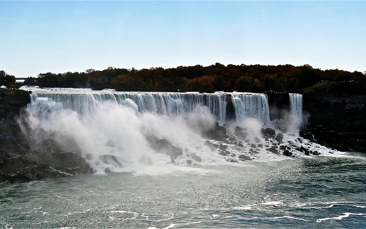 вода, ниагарский водопад, река, природа, камни, берег, пейзаж, водопад, брызги, water, niagara falls, river, nature, stones, shore, landscape, waterfall, squirt