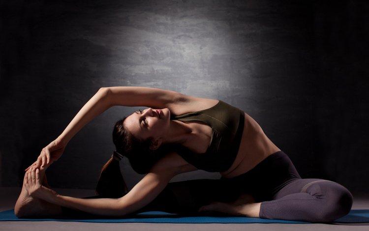 девушка, поза, модель, растяжка, спортивная одежда, йога, гимнастика, girl, pose, model, stretching, sports wear, yoga, gymnastics