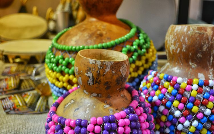 africa, beads, dishes, pitcher, bracelets