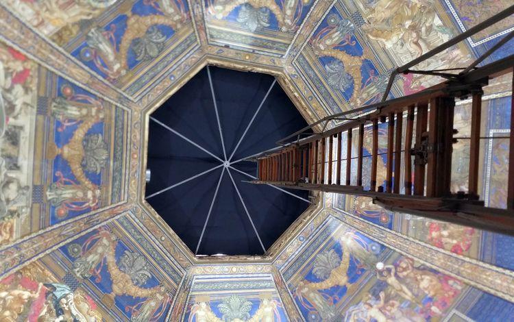 арт, узор, венеция, италия, архитектура, голубая, шкала, artwork, indoors, art, pattern, venice, italy, architecture, blue, scale