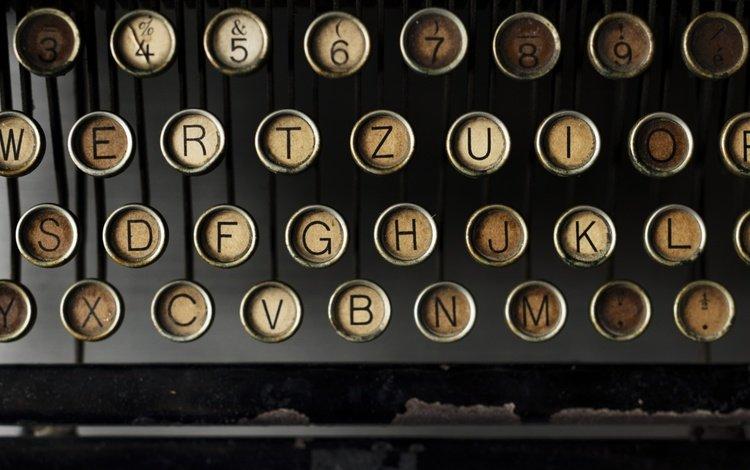 ретро, буквы, клавиши, печатная машинка, retro, letters, keys, typewriter