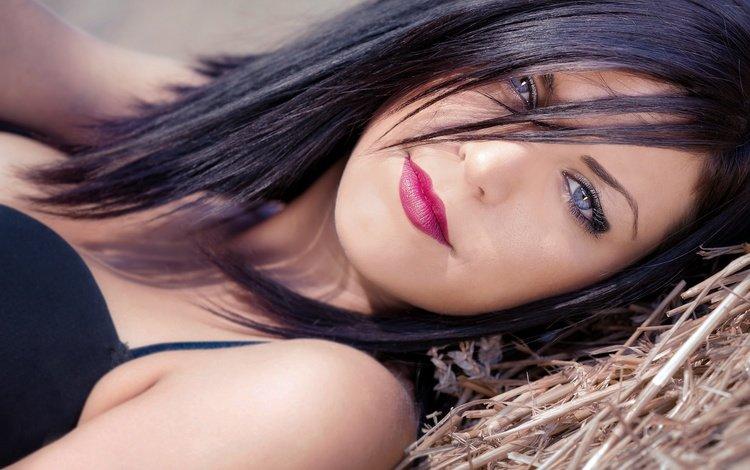 девушка, взгляд, модель, губы, лицо, помада, паскаль мартин, губная помада лицо, girl, look, model, lips, face, lipstick, pascal martin, lipstick face