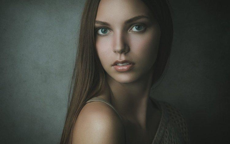 девушка, michael schnabl, портрет, взгляд, модель, волосы, губы, лицо, ванесса, girl, portrait, look, model, hair, lips, face, vanessa