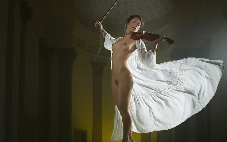 девушка, поза, скрипка, girl, pose, violin