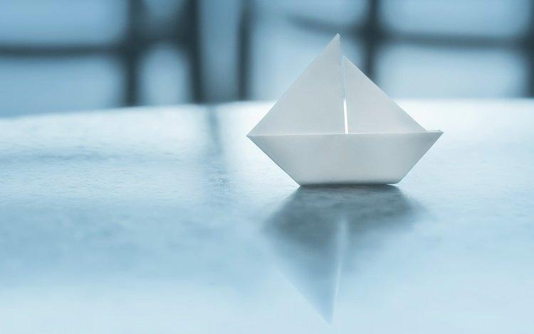 фон, бумага, оригами, кораблик, background, paper, origami, boat