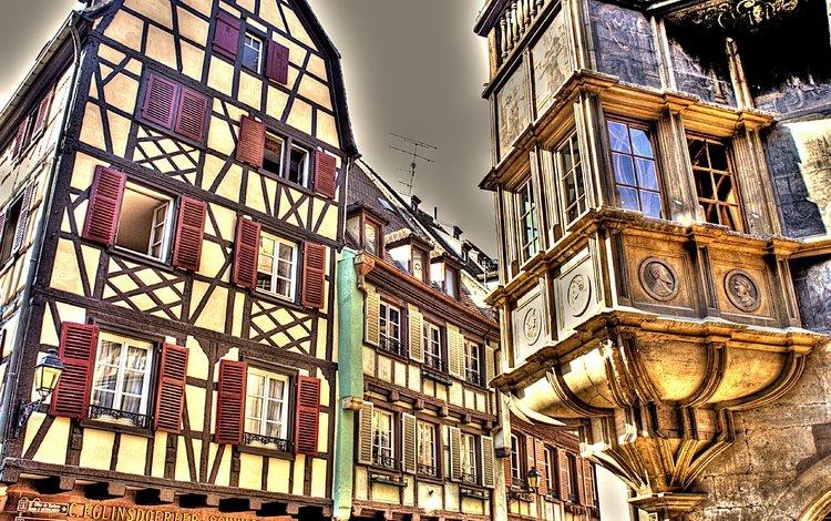 город, дома, здания, окна, германия, the city, home, building, windows, germany