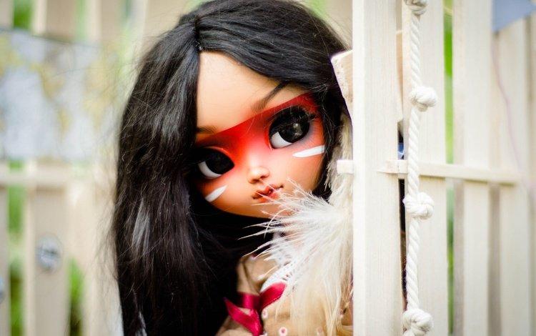 взгляд, игрушка, кукла, волосы, лицо, индианка, look, toy, doll, hair, face, indian