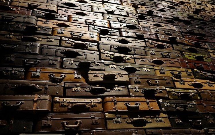 макро, фон, чемодан, чемоданы, багаж, macro, background, suitcase, suitcases, luggage