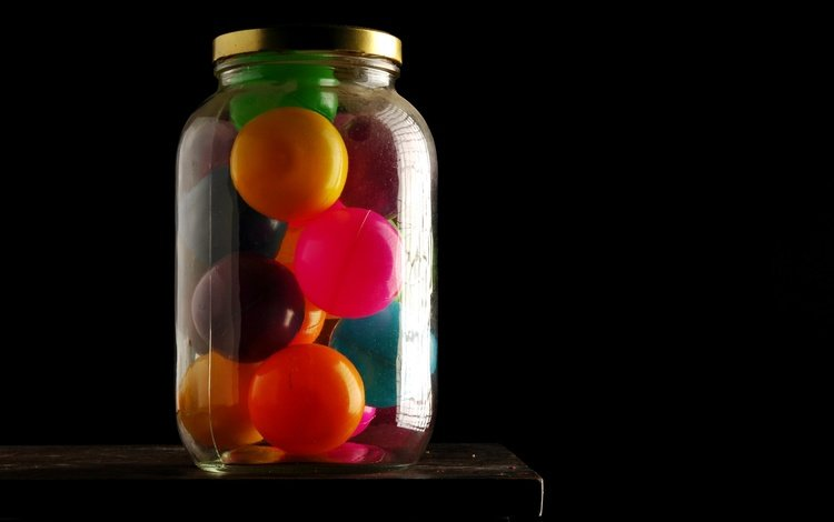 макро, фон, цвет, шарики, черный фон, банка, xavier j. peg, macro, background, color, balls, black background, bank