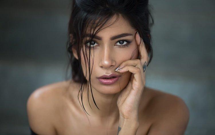 девушка, махараштра, портрет, aasttha, взгляд, модель, тату, волосы, лицо, макияж, girl, maharashtra, portrait, look, model, tattoo, hair, face, makeup