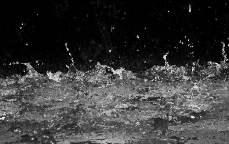 вода, капли, чёрно-белое, брызги, всплеск, жидкость, выплеск, water, drops, black and white, squirt, splash, liquid