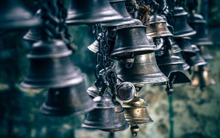 металл, колокольчики, цепь, ржавчина, колокол, колокола, звон, metal, bells, chain, rust, bell, ringing