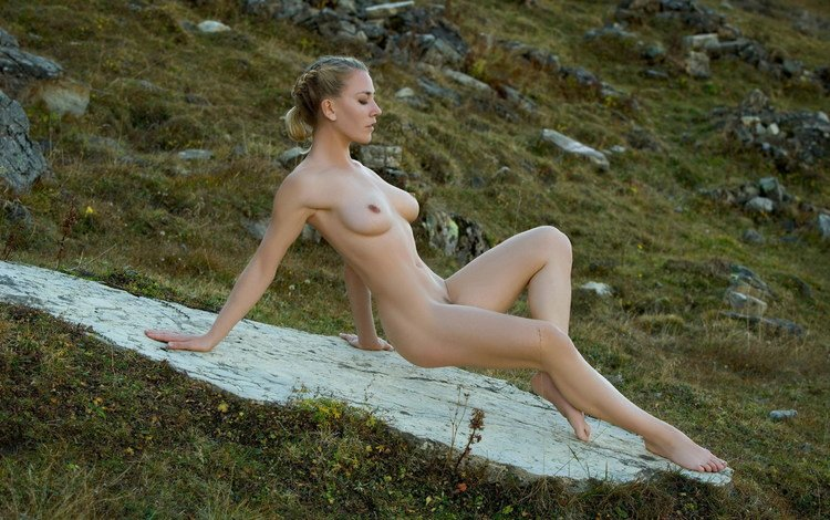 девушка, сидит, голая, girl, sitting, naked