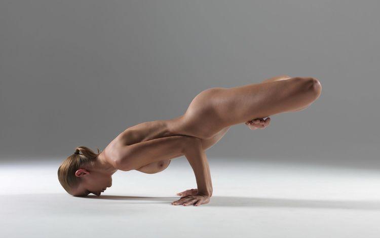 девушка, поза, руки, голая, йога, girl, pose, hands, naked, yoga