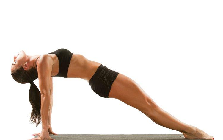 девушка, поза, белый фон, фигура, фитнес, йога, girl, pose, white background, figure, fitness, yoga