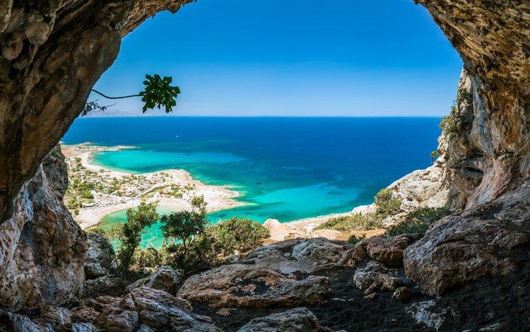 скалы, море, пещера, rocks, sea, cave