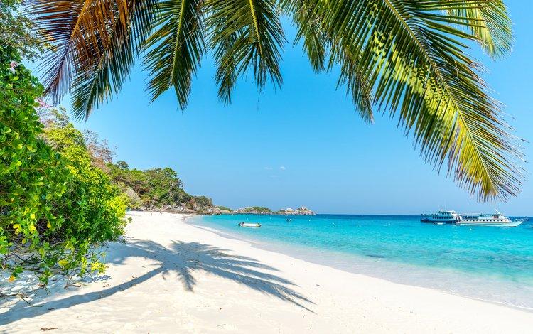 sea, beach, yachts, tropics