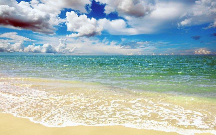 clouds, sea, beach, 27