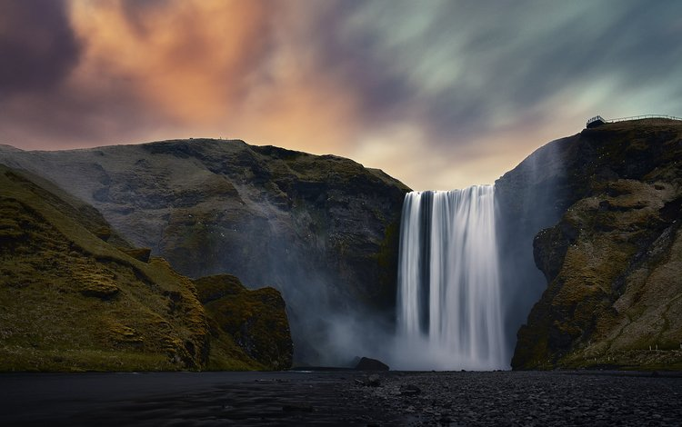 река, скалы, природа, водопад, etienne ruff, river, rocks, nature, waterfall