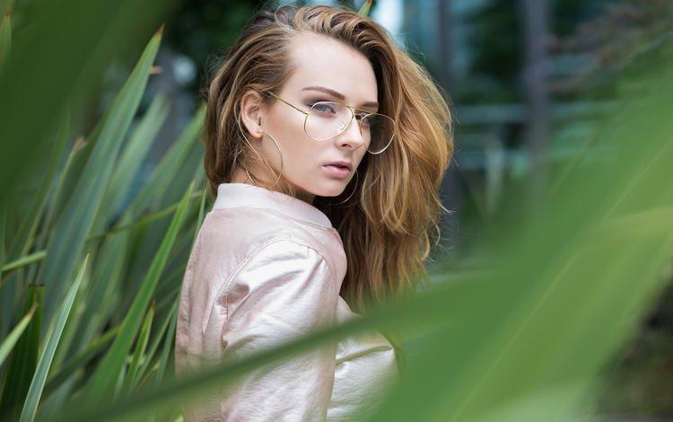 girl, portrait, look, glasses, blur, hair, face, zoe caiola marmori, ra