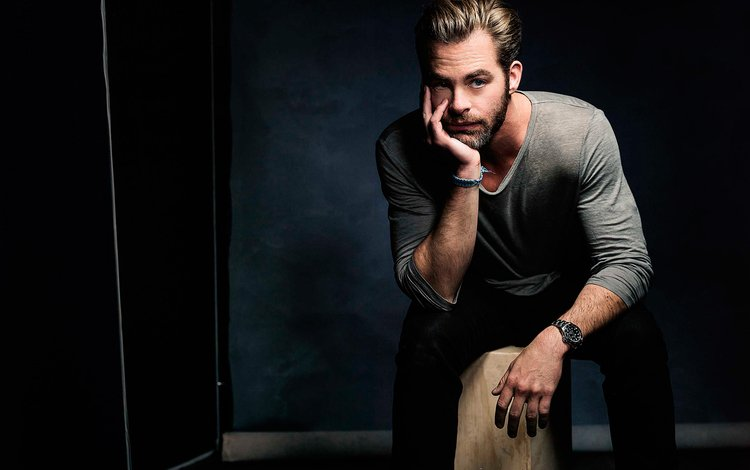 актёр, часы, мужчина, фотосессия, борода, крис пайн, actor, watch, male, photoshoot, beard, chris pine