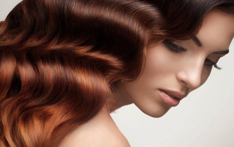 девушка, портрет, взгляд, модель, профиль, лицо, шатенка, длинные волосы, girl, portrait, look, model, profile, face, brown hair, long hair