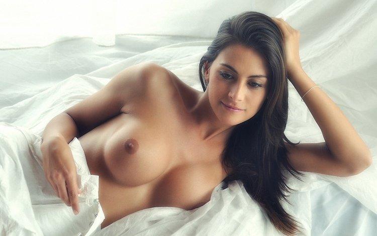 девушка, взгляд, модель, позирует, сиськи, соски, girl, look, model, posing, tits, nipples