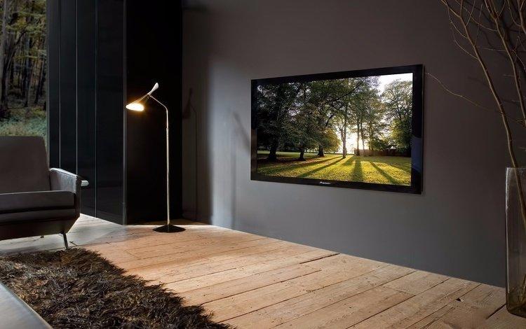 интерьер, телевизор, комната, плазма, гостиная, торшер, interior, tv, room, plasma, living room, floor lamp
