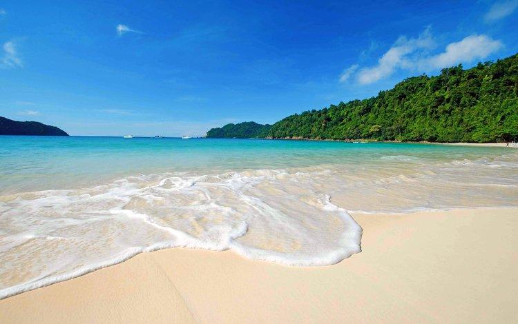 sea, beach, islands