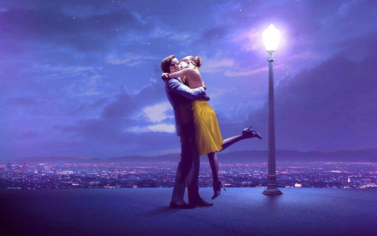 небо, поцелуй, облака, свидание, ночь, панорама, город, фонарь, любовь, пара, the sky, kiss, clouds, date, night, panorama, the city, lantern, love, pair