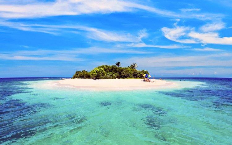 sea, beach, island, tropics