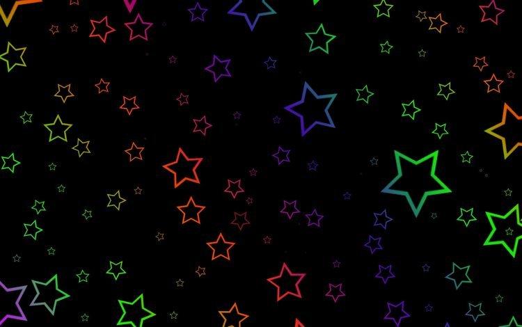 арт, абстракция, звезды, креатив, черный фон, art, abstraction, stars, creative, black background