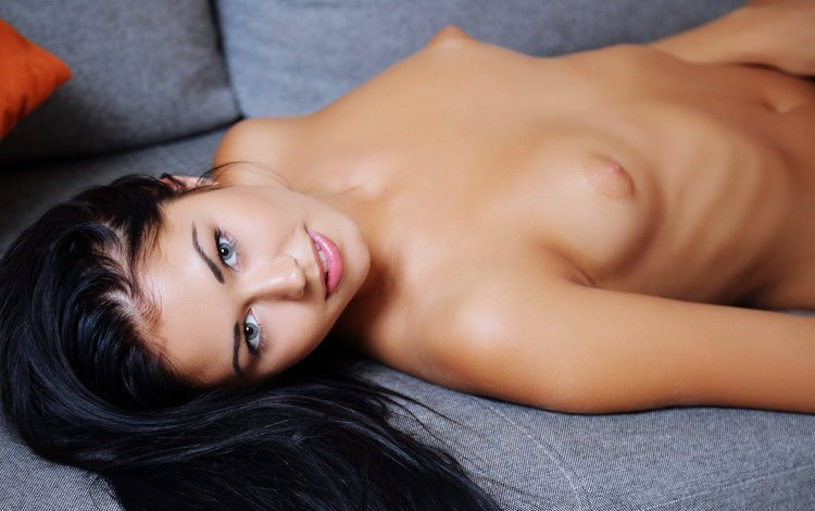 девушка, брюнетка, модель, грудь, голая, macy b, girl, brunette, model, chest, naked