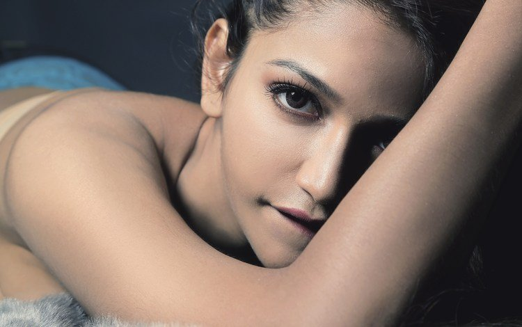 девушка, взгляд, волосы, лицо, актриса, индийская, anaika soti, girl, look, hair, face, actress, indian
