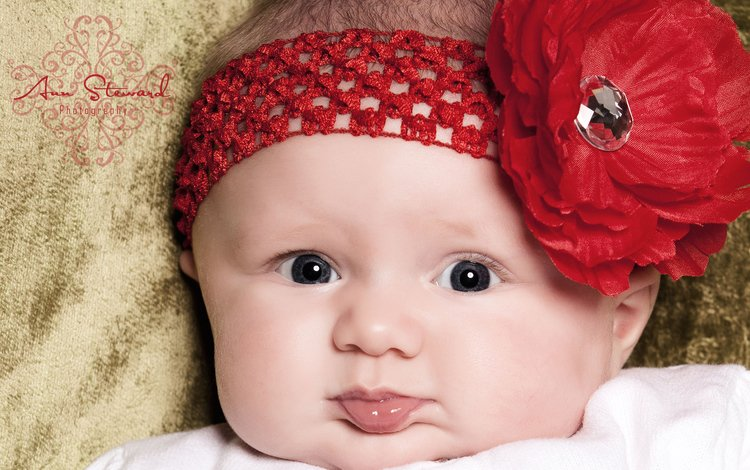 цветок, взгляд, дети, девочка, лицо, ребенок, повязка, flower, look, children, girl, face, child, headband