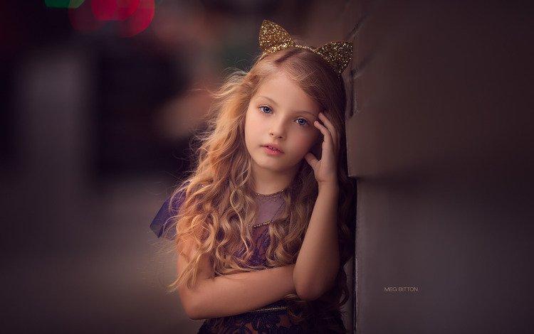 платье, взгляд, дети, девочка, волосы, ушки, лицо, ребенок, dress, look, children, girl, hair, ears, face, child