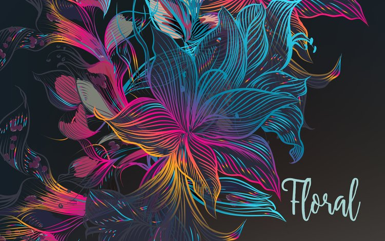 flowers, abstraction, texture, background, the inscription