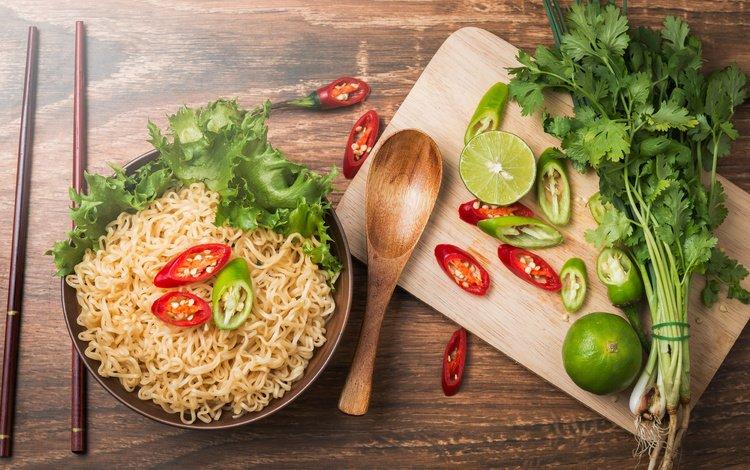 лайм, таиланд, чили, петрушка, лапша, креманки, азиат, перец чили, lime, thailand, chile, parsley, noodles, bowl, asian, chili