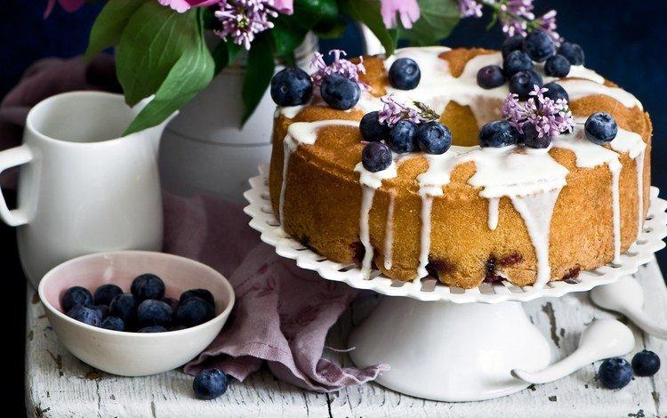 ягоды, черника, сладкое, выпечка, глазурь, пирог, кекс, berries, blueberries, sweet, cakes, glaze, pie, cupcake
