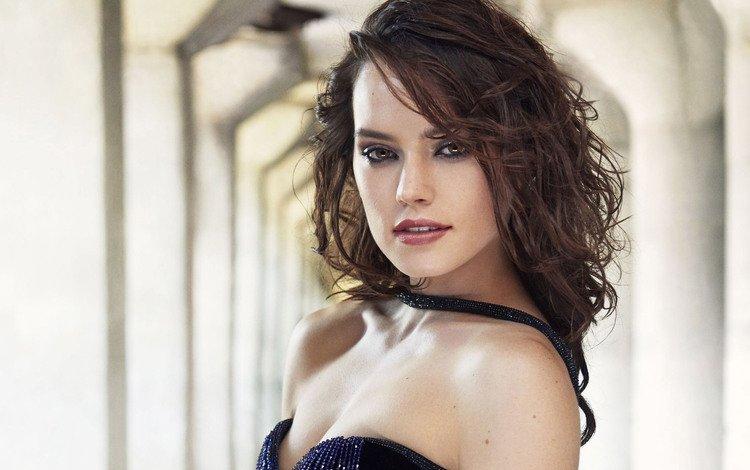 девушка, взгляд, волосы, лицо, актриса, дэйзи ридли, girl, look, hair, face, actress, daisy ridley