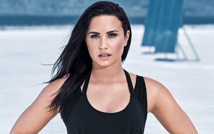 брюнетка, взгляд, лицо, актриса, певица, деми ловато, brunette, look, face, actress, singer, demi lovato