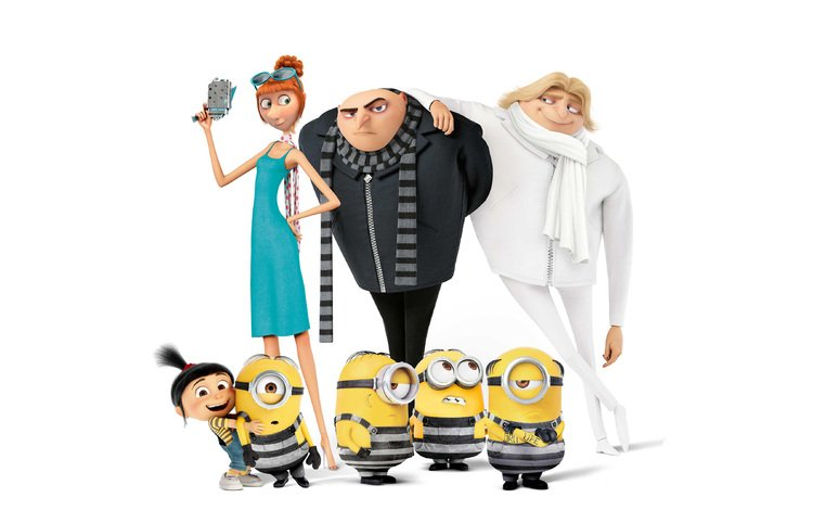 cartoon, girls, lucy, minions, despicable me 3, gru, drew