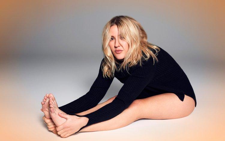 girl, blonde, look, legs, hair, face, singer, ellie goulding