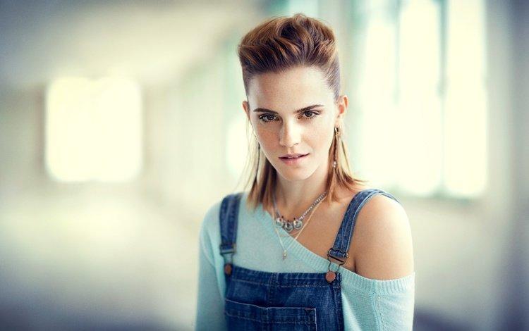 girl, look, model, face, actress, emma watson, bare shoulder