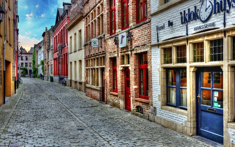 street, building, belgium, ghent