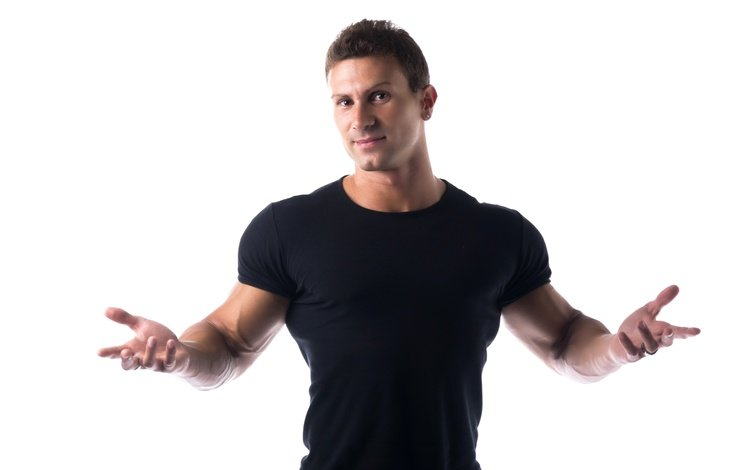 поза, взгляд, парень, белый фон, мужчина, спортсмен, мышцы, атлет, pose, look, guy, white background, male, athlete, muscle