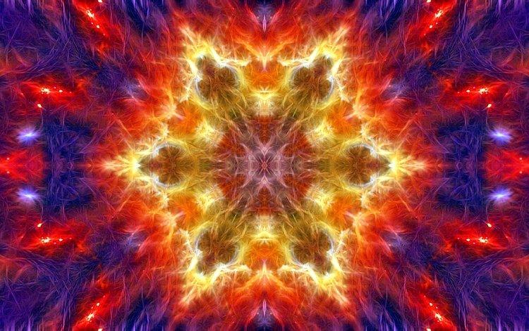 абстракция, узор, цвет, форма, фрактал, калейдоскоп, abstraction, pattern, color, form, fractal, kaleidoscope