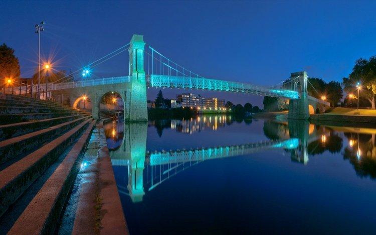 огни, мост, дома, англия, опора, медоус, lights, bridge, home, england, support, meadows