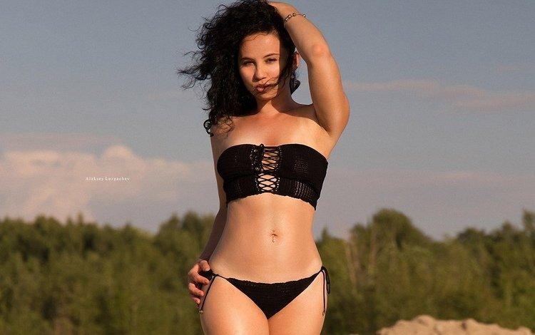 природа, девушка, брюнетка, модель, ветер, aleksey lozgachev, nature, girl, brunette, model, the wind