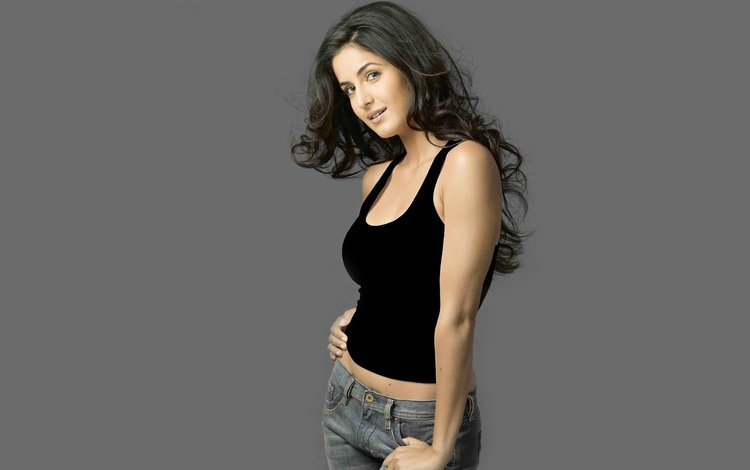 девушка, взгляд, джинсы, волосы, лицо, актриса, болливуд, катрина кайф, girl, look, jeans, hair, face, actress, bollywood, katrina kaif